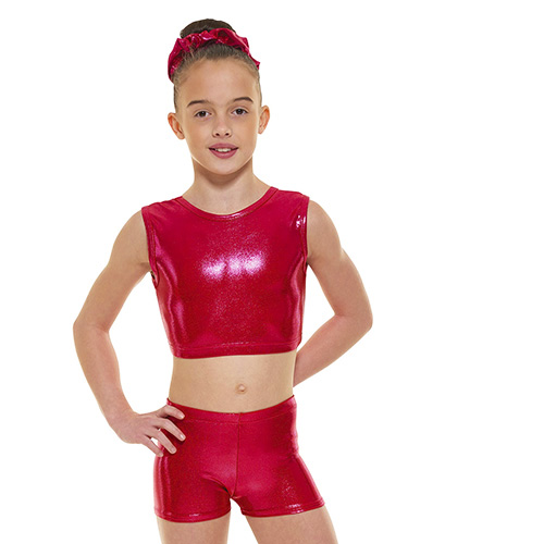 POMEGRANTE SHORTS AND TOP by Dancewear Tappers and Pointers