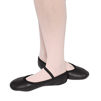Suede Soled Ballet Shoes - Elasticated by Tappers and Pointers