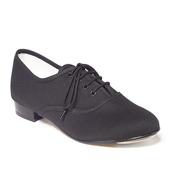 Black Canvas Tap Shoe Low Heel Tappers and Pointers