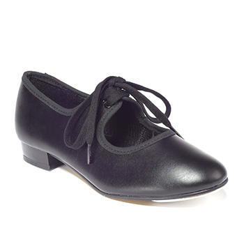 Black PU Tap Shoe Low Heel Tappers and Pointers