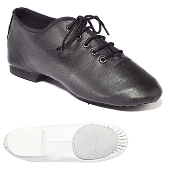 Black Spilt Sole Jazz Shoe Tappers and Pointers