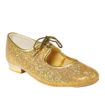 Gold Low Heel Tap Shoe Tappers and Pointers