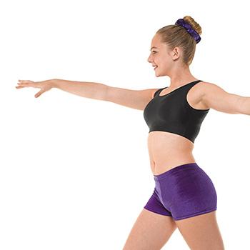 Hipster-Micro-Shorts-In-Grape-Velvet