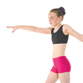Hipster-Micro-Shorts-in-Cerise-Nylon-Lycra