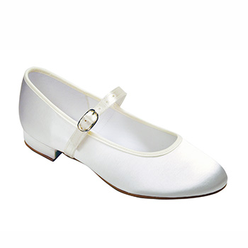 Holly Bar Shoe in White & Ivory Bridal Shoes Tappers and Pointers