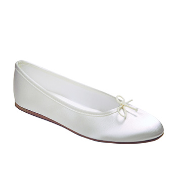 Opera Shoe in White & Ivory Bridal Shoes Tappers and Pointers