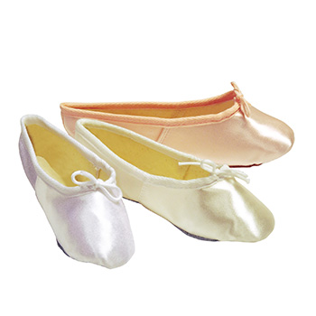 Pink, Ivory & White Satin Ballet Shoes Tappers and Pointers