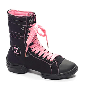Rumpf 2 Star Sneaker Black & Pink Tappers and Pointers