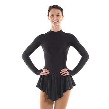 Skating Dress With Turtle Neck Black by Tappers and Pointers
