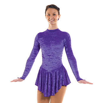 Skating Dress With Turtle Neck Purple by Tappers and Pointers