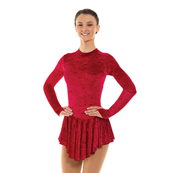 Skating Dress With Turtle Neck Crimson by Tappers and Pointers