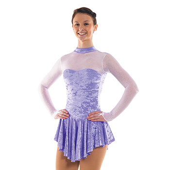 Skating Dress With Turtle Neck Lilac by Tappers and Pointers