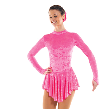 Skating DSkating Dress With Turtle Neck Fluorescent Pink by Tappers and Pointersress With Turtle Neck