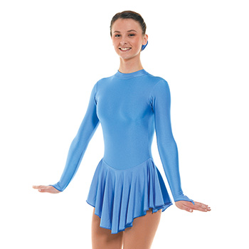 Skating Dress With Turtle Neck Cornflower by Tappers and Pointers