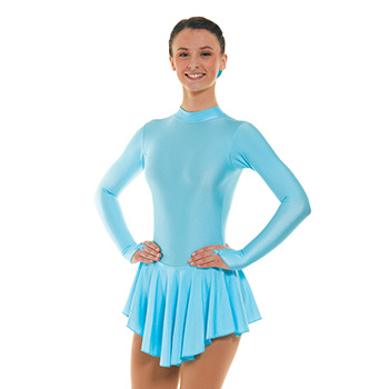 Skating Dress With Turtle Neck Aqua by Tappers and Pointers