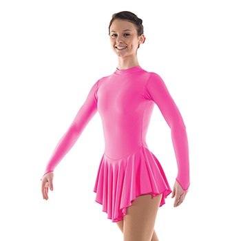 Skating Dress With Turtle Neck Fluorescent Pink by Tappers and Pointers