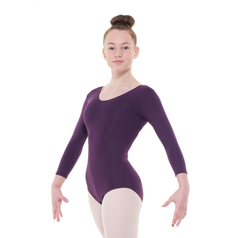 34-Length-Sleeved-Leotard-With-A-Plain-Front-by-tappers-and-pointers