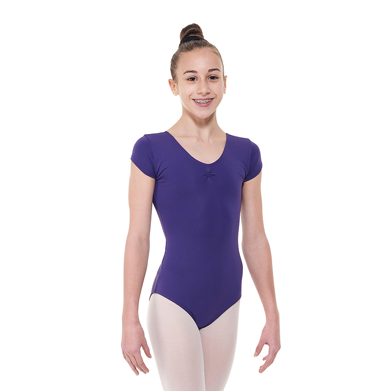 Capped-Sleeved-Leotard-With-A-Pinched-Front-by-tappers-and-pointers