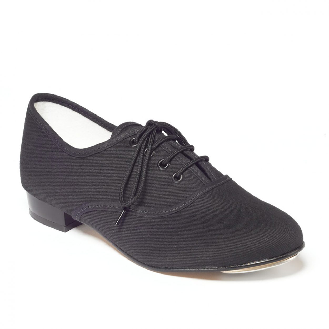 Black Canvas Tap Shoe Low Heel