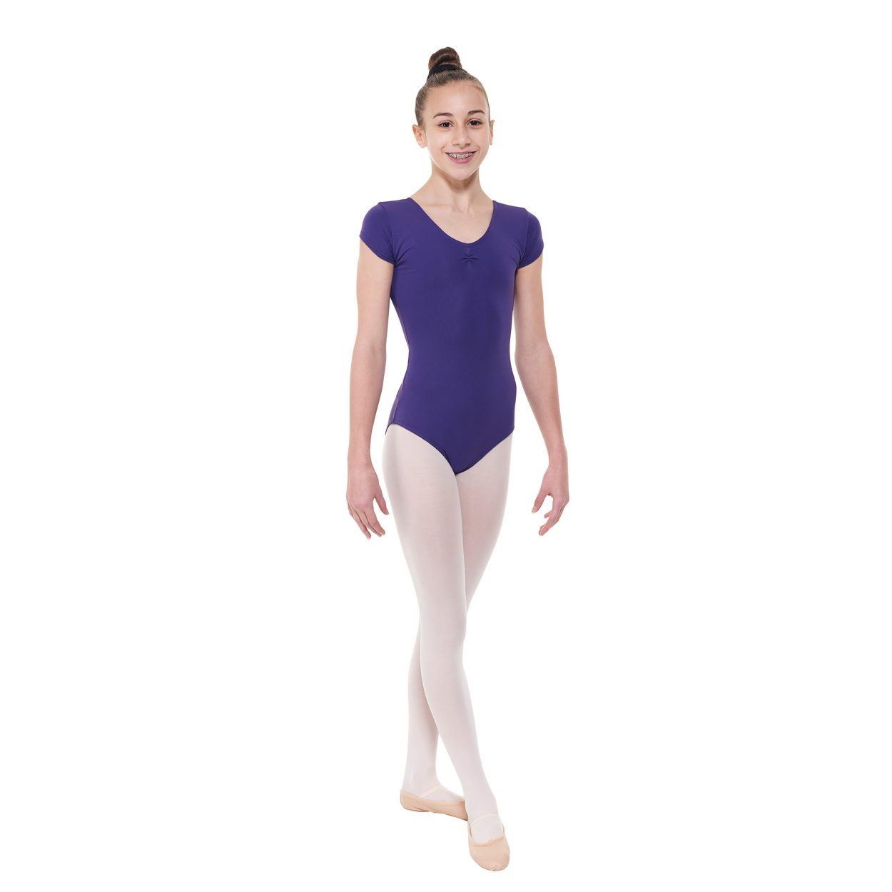 Meryl-Capped-Sleeved-Leotard-With-A-Pinched-Front-by-Tappers-and-Pointers