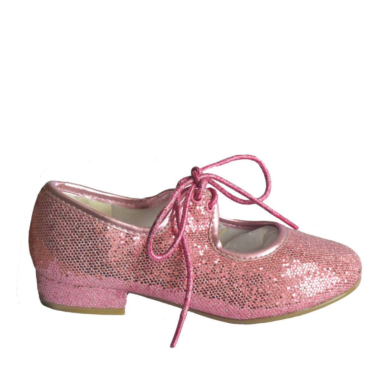 PHT Low Heel Tap Shoes - Pink Glitter Upper Tappers and Pointers