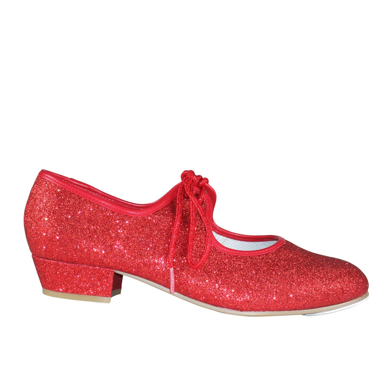 Red Glitter Low Heel Tap Shoe Tappers and Pointers