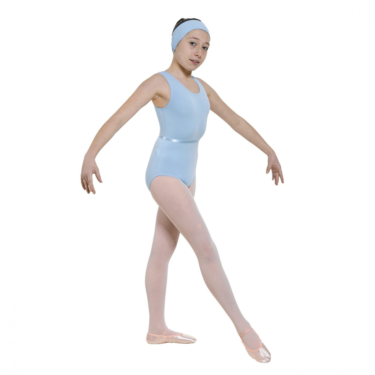 Sleeveless-Leotard-Plain-Front-in-Cotton- Tappers and Pointers